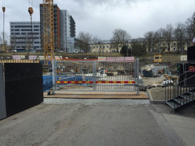 Ehitusplatsi ajutine tiibvärav